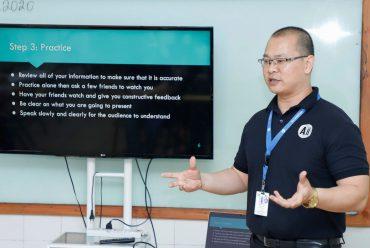 Workshop on Presentation skills for AEP 1 students.